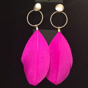 Textured Feather Earrings